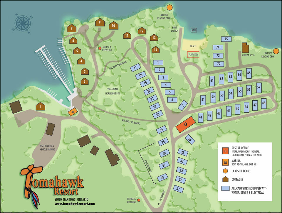 Tomahawk Resort Map